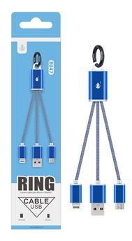 Picture of iPhone & Android charger with key ring